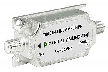Dintel - Amplificador de línea RF+FI 15dB-20dB | Carcasa de fundición inyectada