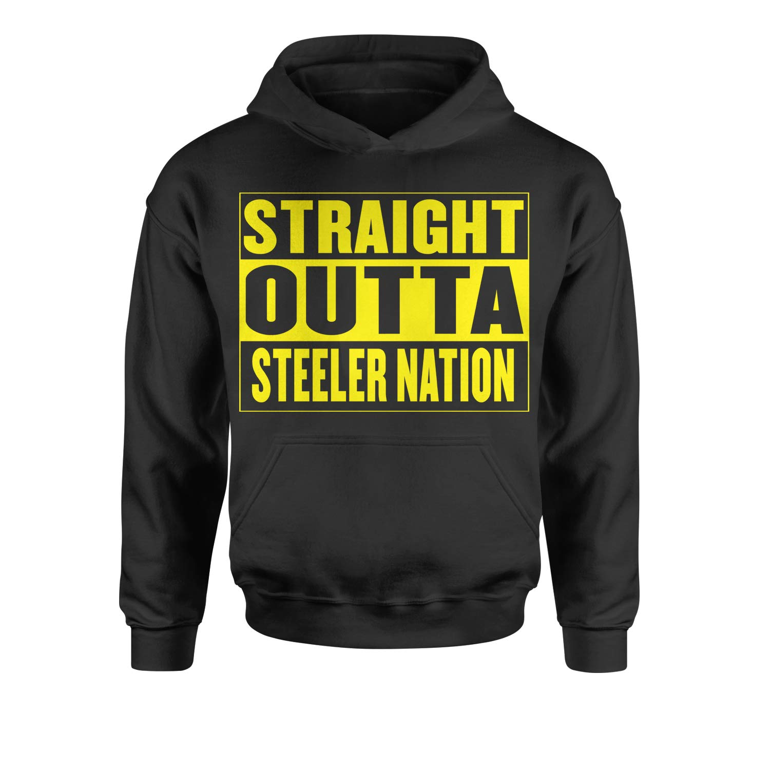 Motivated Culture Straight Outta Steeler Nation Football Youth-Sized Hoodie 2478-Y