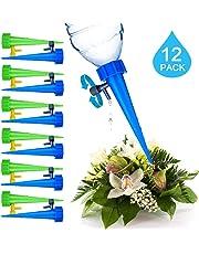 WDDH Dispositivos de riego automático para Plantas, Dispositivos de riego por Goteo para día Festivo automáticas, Cuidado de Plantas de Interior y Exterior (Paquete de 12)