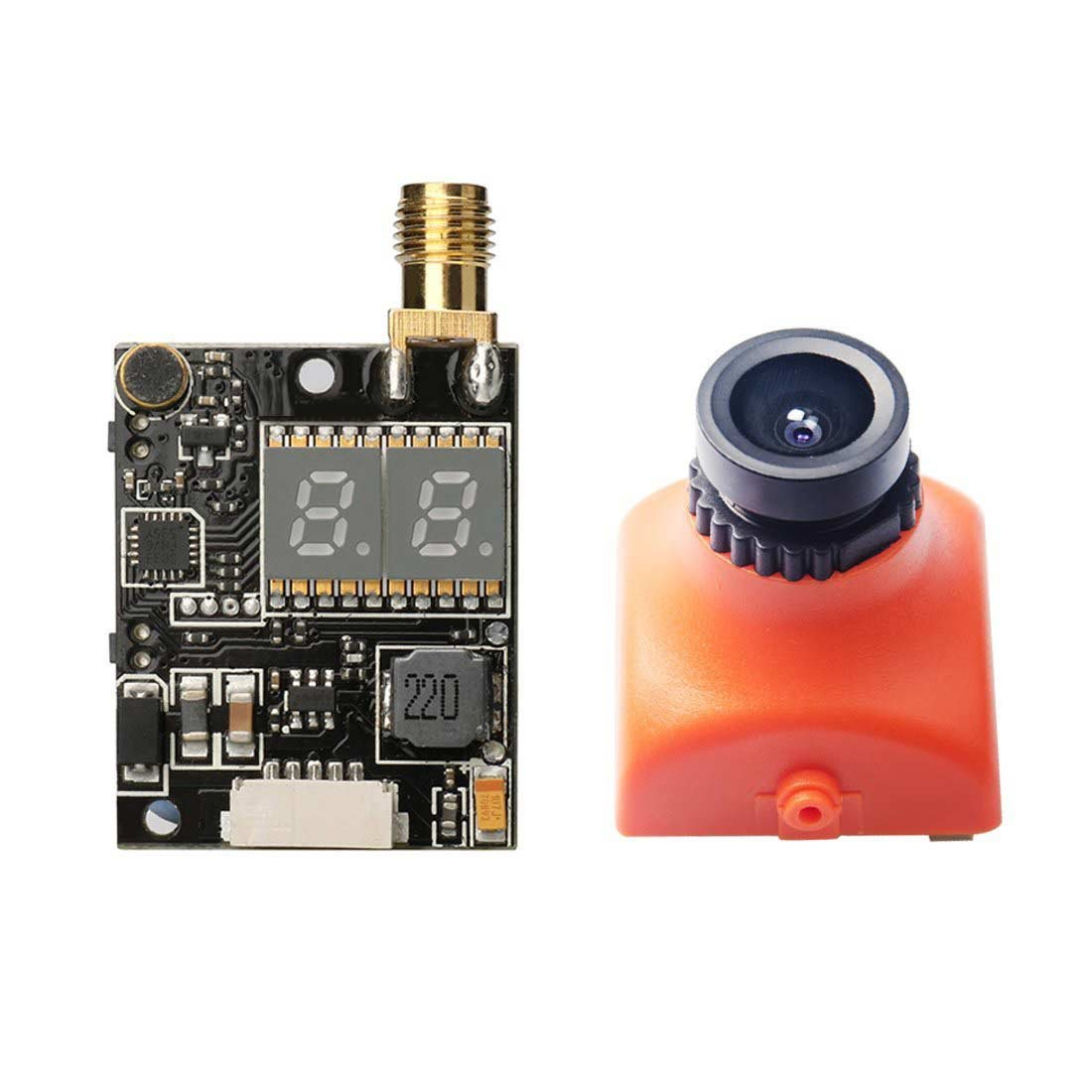 AKK KC02 600mW FPV Transmitter with 600TVL 2.8MM 120 Degree  CCD Camera