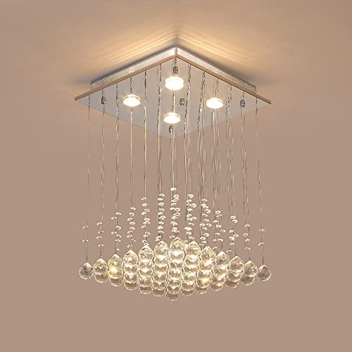 Oofay light led 43w contemporary fashion k9 crystal modern saint mossi modern k9 crystal raindrop chandelier lighting flush mount led ceiling light fixture pendant lamp aloadofball Image collections