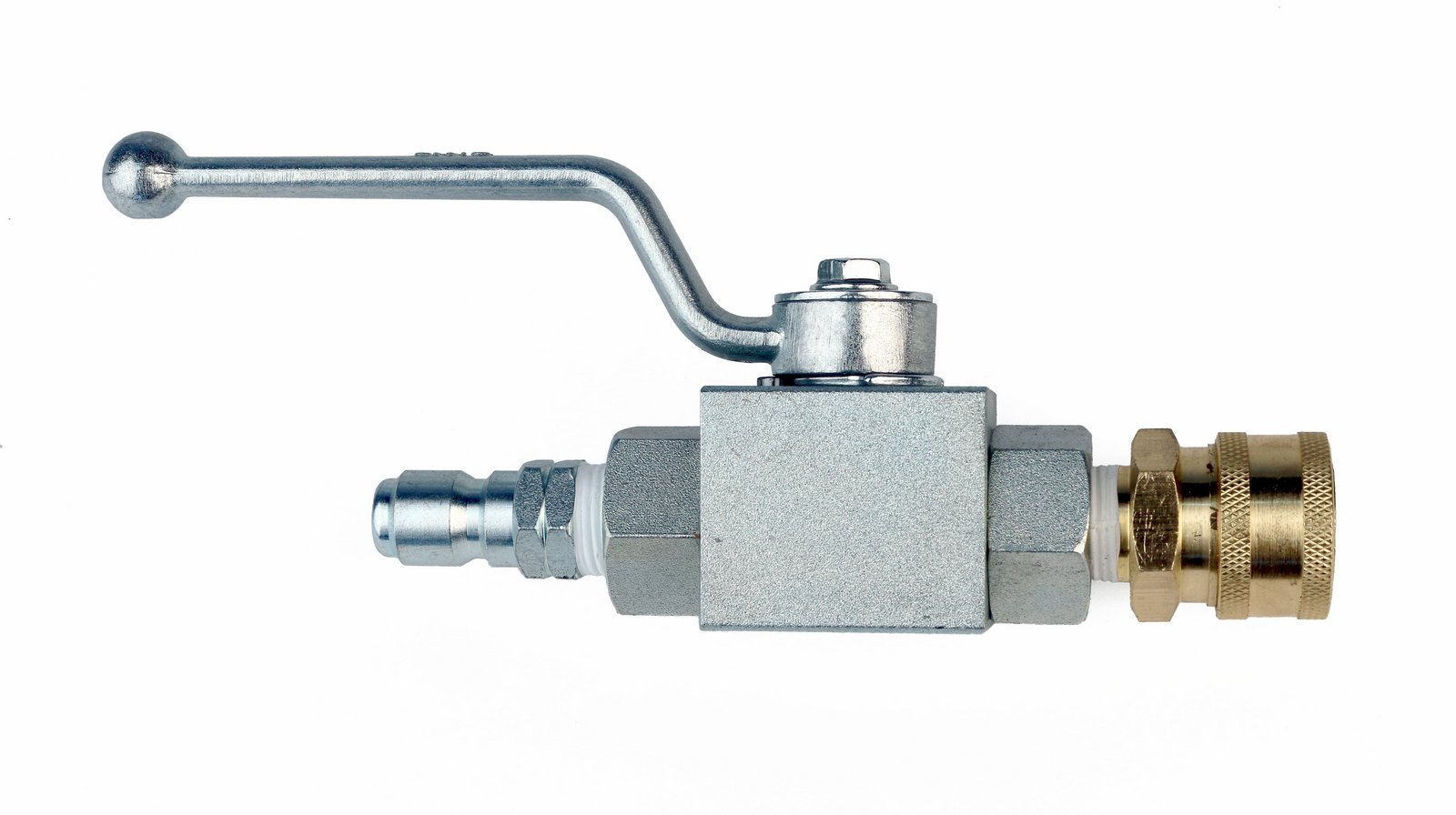 High Pressure Ball Valve Kit 3/8'' Male Plug X 3/8'' Female Quick Connect 4000PSI for High Pressure Hoses by Raptor Blast (Image #2)