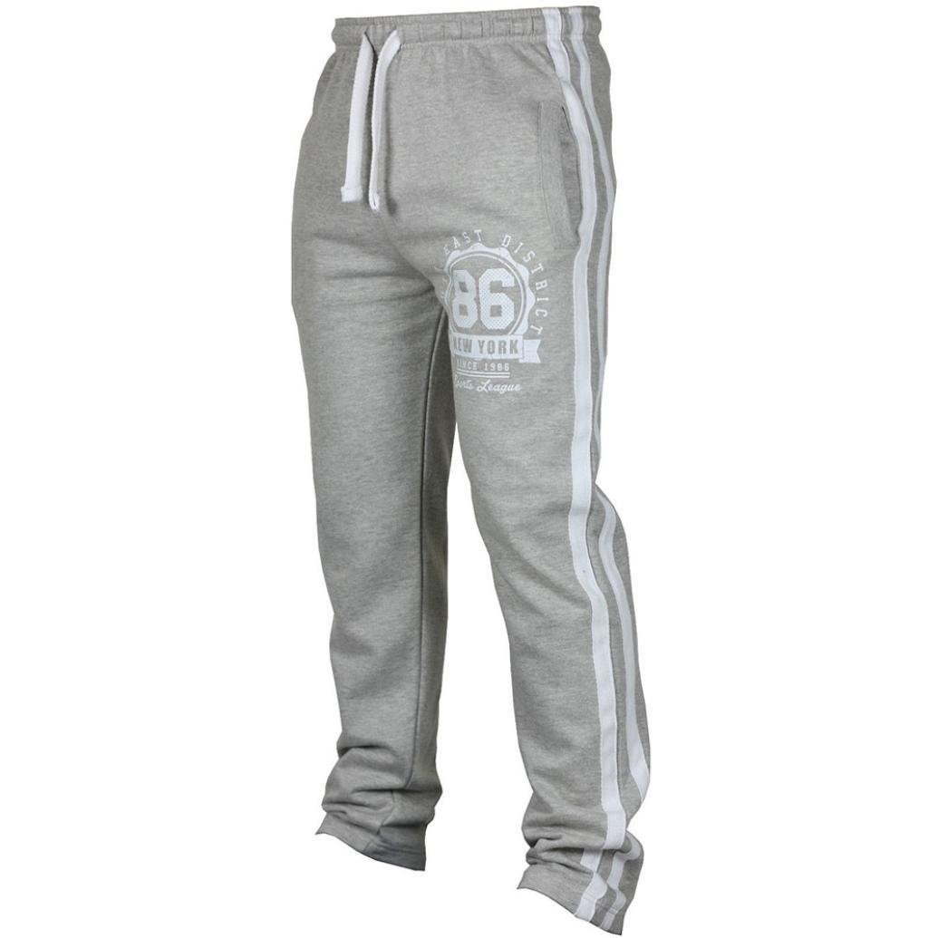 Allywit Men's Casual Drawstring Training Jogger Athletic Pants Sweatpants Big and Tall