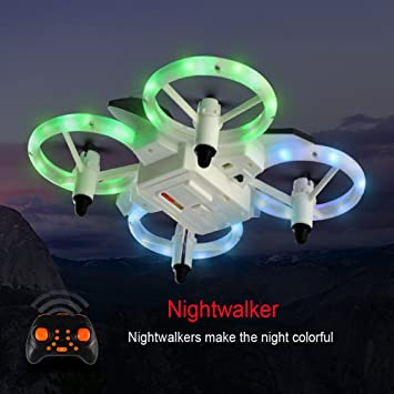 Mini Drones for Kids and Beginners,XXD158 LED RC Kid Drone, One Key Take