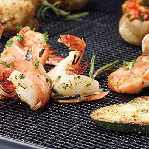 Noblik Tapis de Barbecue RéUtilisable Respectueux de l'environnement de Barbecue Filet de Maille de Gril de Barbecue pour L'Outil de Cuisson ExtéRieur