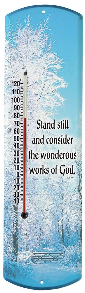 Heritage America by MORCO 375STILL Stand Still Outdoor or Indoor Thermometer, 20-Inch