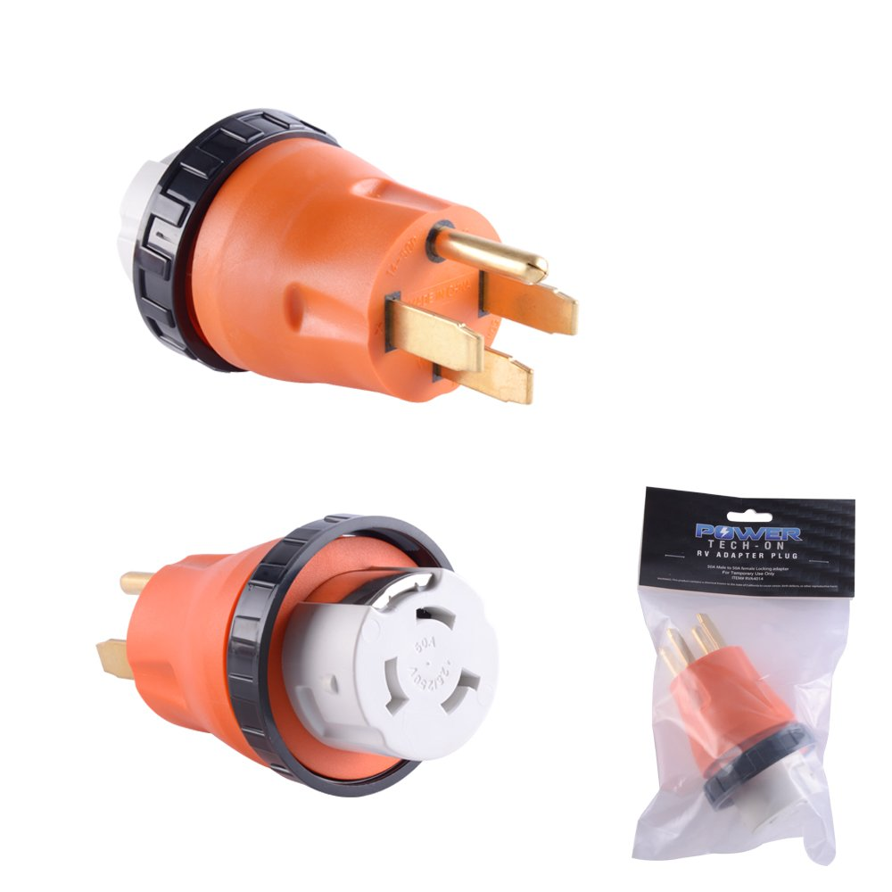 GoWISE Power RVA4014 RV Locking Adapter - 50 Amp Male to 50 Amp Female