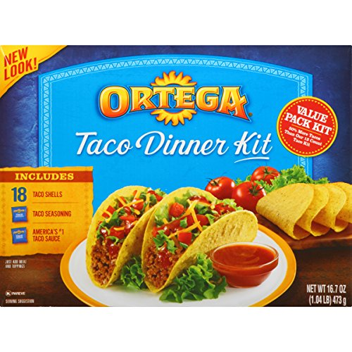 Ortega Taco Meal Kits, Taco Dinner, 18 Count