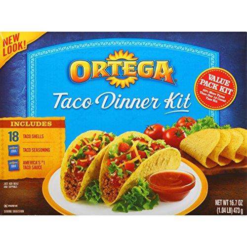 (Ortega Taco Meal Kits, Taco Dinner, 18 Count)