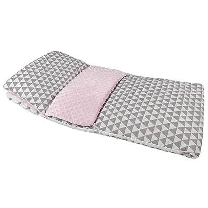 Zuzpo Saco De Dormir Con Almohada Para Bebé 120 x 60 cm , gris-rosa