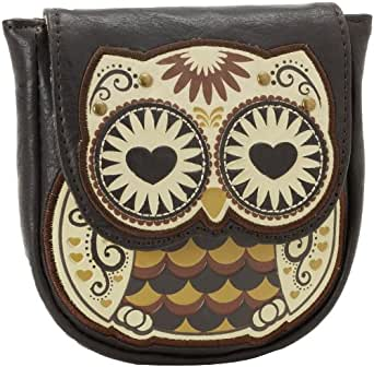 Loungefly LFCB0230 Owl with Heart Eyes Coin Bag,Brown/White/Black,One Size