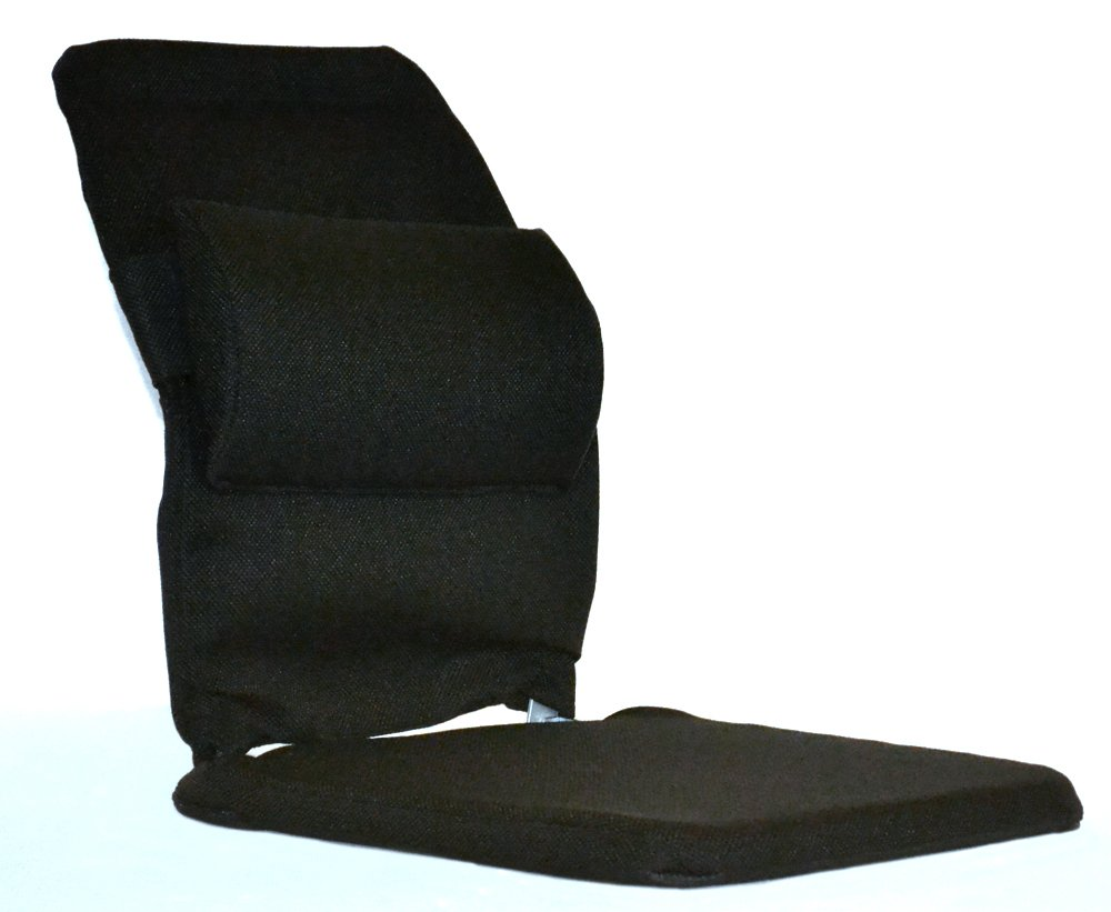 McCarty's Sacro-Ease Deluxe Model Seat Support with Adjustable Lumbar Pad on Back & 1' Poly Foam in Seat, 15-Inch Wide, Black Mc Carty' s BRSCM-BLK