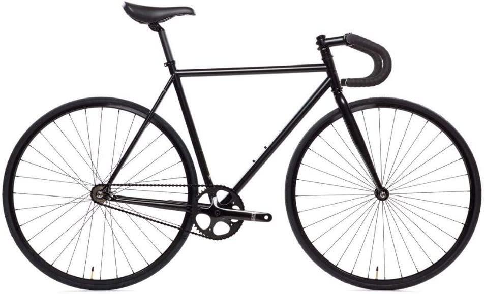 State Bicycle 4130 - The Matte Black | Double Butted Grade Chromoly Steel - Fixed Gear/Single Speed | 52cm Drop Bar
