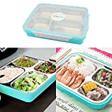 Stainless Steel Bento Lunch Box, Udyr BPA Free Leak Proof Food Container for Adults or Kids of Outdoor/Picnic/School/Office green