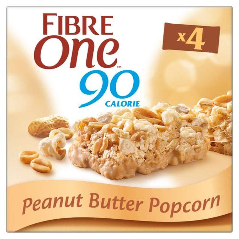 Fibre One 90 Calorie Peanut Butter Popcorn Bars 4 Pack