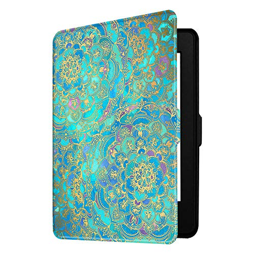 Fintie Slimshell Case for Kindle Paperwhite - Fits All Paperwhite Generations Prior to 2018 (Not Fit All-New Paperwhite 10th Gen), Shades of Blue