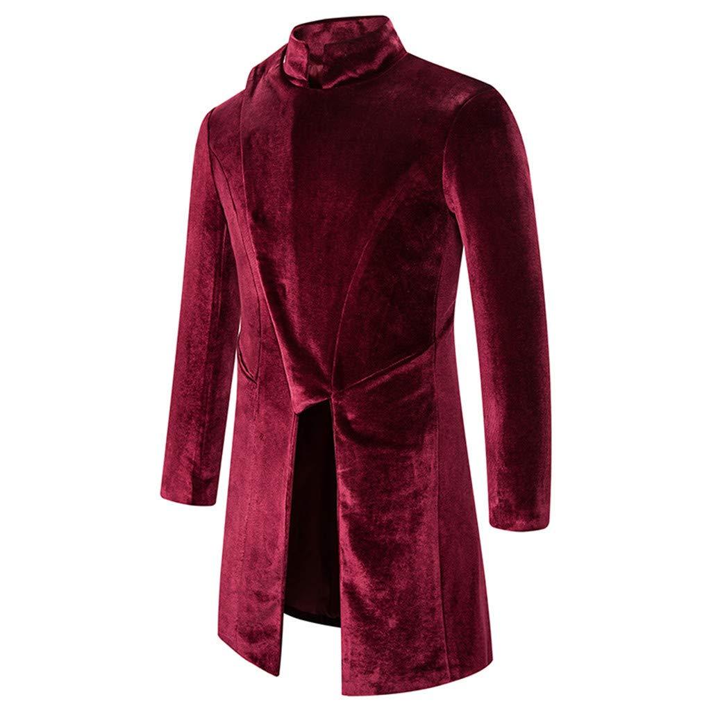 YOcheerful Men Women Coat Tuxedo Coat Formal Suit Tailcoat Jacket Uniform Costume Praty Outwear Vintage Trench Coat Overcoat