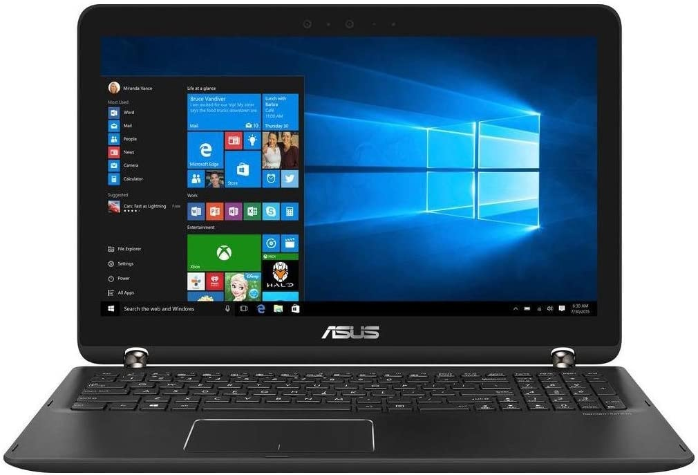 Asus 2-in-1 15.6-inch Touch-Screen Full HD Laptop PC - Intel Core i7 Processor, 12GB Memory, 2TB Hard Drive, NVIDIA GeForce 940MX, Backlit Keyboard, Bluetooth, Sandblasted aluminum Black