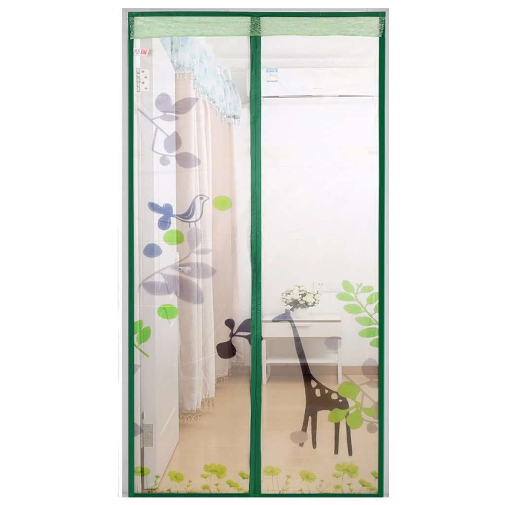 Screen Doors Magnetic Fly Screen Door, Keep Bugs Out Lets Fresh Air In. No More Mosquitoes or Insects. (Size : 110*220cm)