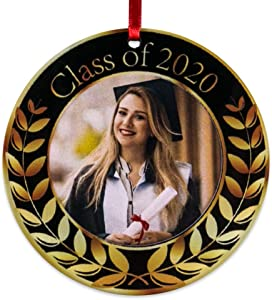 SICOHOME Graduation Picture Frame Ornament 2020 Year Dated Graduation Gift Congratulations,Photo Frame