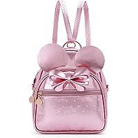 Girls Bowknot Polka Dot Cute Mini Backpack Small Daypacks Convertible Shoulder Bag Purse for Women