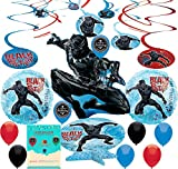 Black Panther Birthday Party Supplies Room Balloon Decoration Bundle