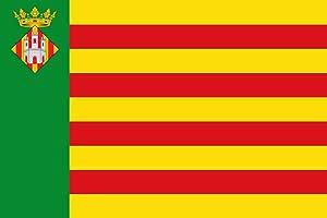 magFlags Bandera Large Castellón de la Plana España | Bandera Paisaje | 1.35m² | 90x150cm: Amazon.es: Jardín