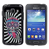 LASTONE PHONE CASE / Slim Design Hard PC/Aluminum Shell Case Cover for Samsung Galaxy Ace 3 GT-S7270 GT-S7275 GT-S7272 / Cool Crazy Psycho Hipster Sugar Skull USA Flag
