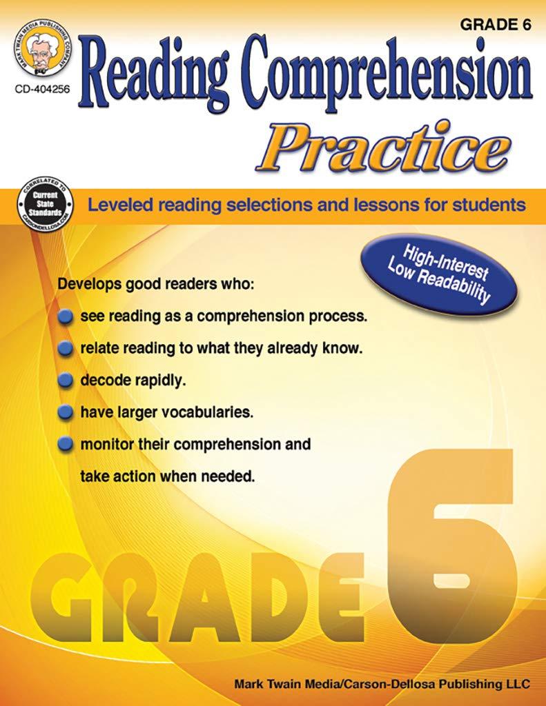 - Mark Twain - Reading Comprehension Practice, Grade 6: Janet P
