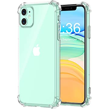 Matone for iPhone 11 Case, Crystal Clear Slim Protective Cover with Reinforced Corner Bumpers, Flexible Soft TPU Anti-Scratch Cases Compatible with Apple iPhone 11 (2019) 6.1-Inch