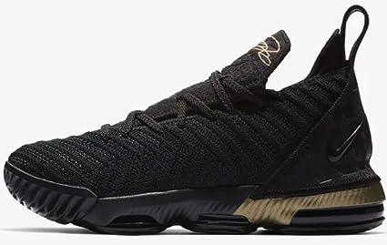 on sale dabbc ba177 Nike Kid s Grade School Lebron 16 Basketball Shoes (Black Metallic Gold, ...
