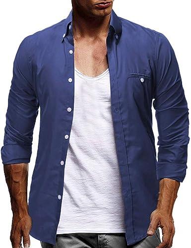 Sylar Camisas De Hombre Manga Larga Camisa De Vestir para Hombre Camiseta Básica De Negocio Negro Camisetas Hombre Color Sólido Slim Fit Otoño Camisetas Casual Entallada Remeras: Amazon.es: Ropa y accesorios