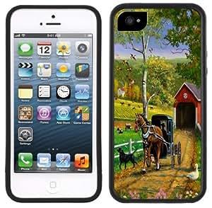 Wishing Amish Horse & Buggy Handmade iPhone 5 5S Black Case