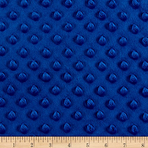 Minky Plush Dot Royal Blue Fabric By The Yard (Dot Fabric Blue)
