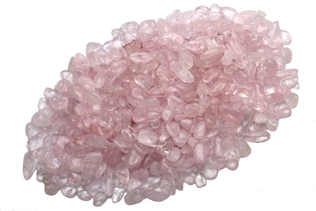 ZenQ 1 lb Aquamarine Tumbled Stone Chips Crushed Natural Crystal Quartz Pieces