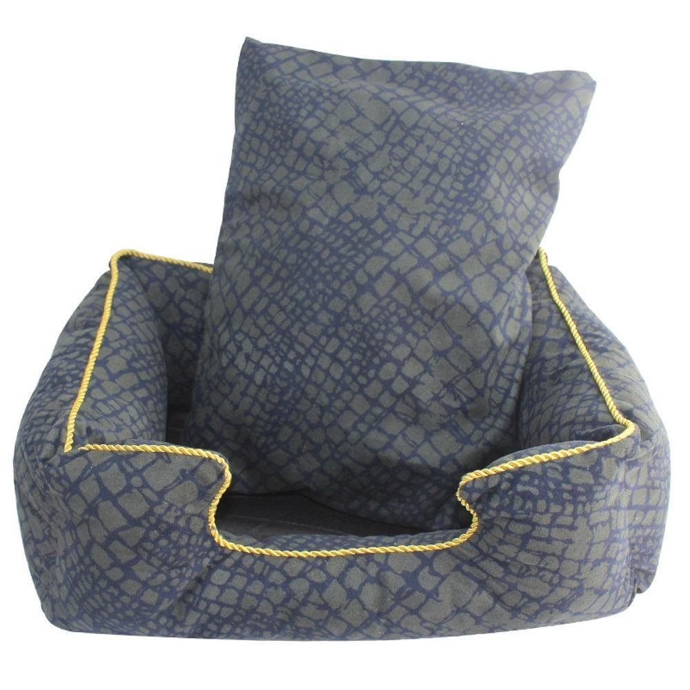 B Gperw Pet Bolster Dog Bed Comfort Suede can be washed and washed kennel cat nest, 48x40cm Non Slip Cushion Pad (color   B)