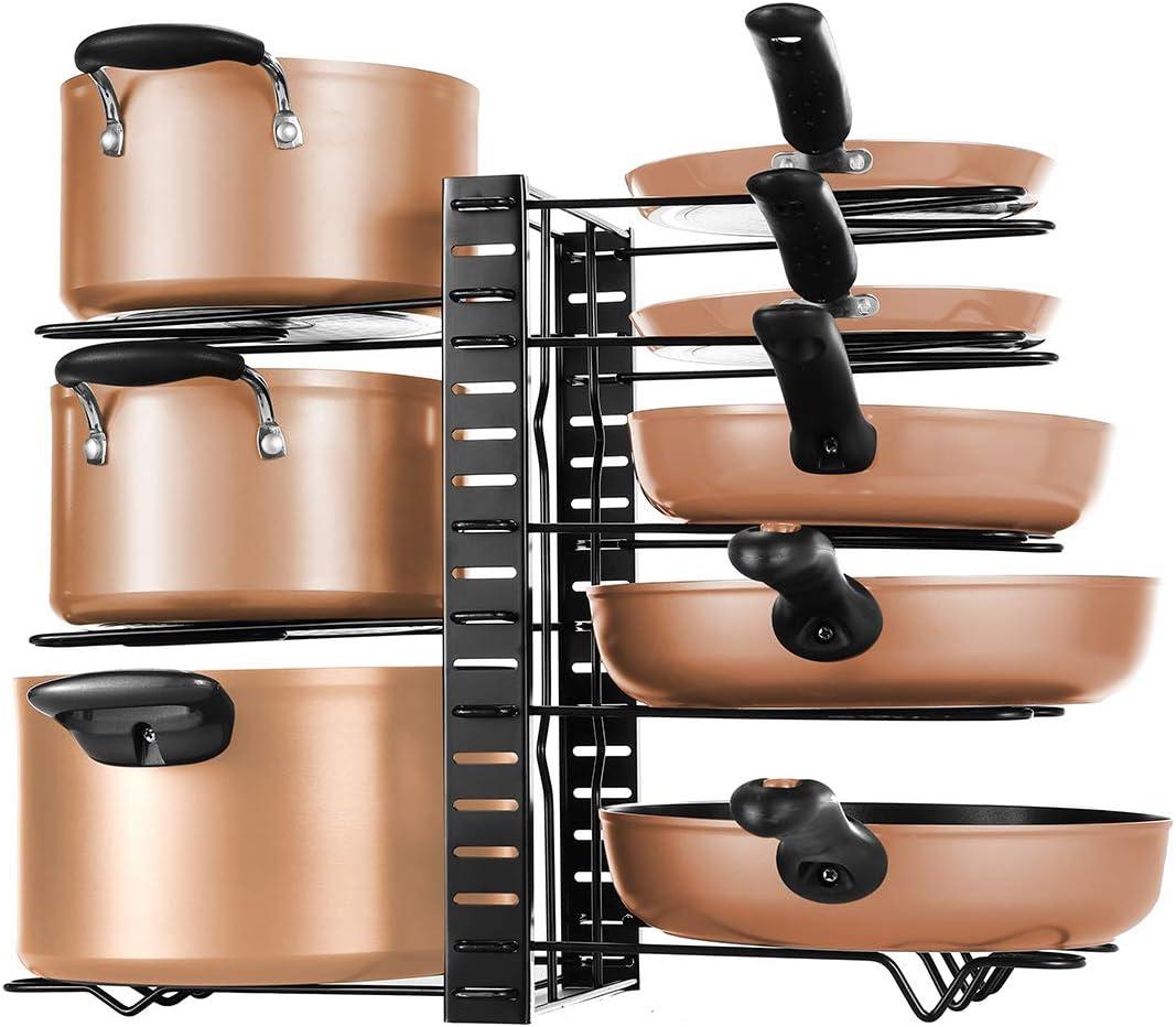 soporte organizador para encimera ollas y sartenes soporte independiente para tabla de cortar Soporte para tapa de cacerola AniU bandeja para hornear bandejas para hornear