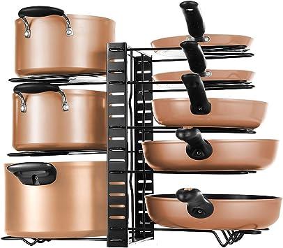 hierro fundido ollas rejillas sartenes Soporte organizador de pared para ollas
