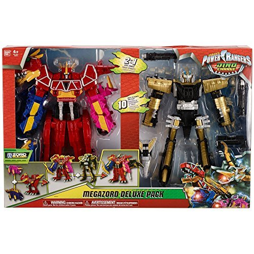 Power Rangers Deluxe 2 in 1 Epic Megazord Gift Set - Dino Charge and Ptera - Megazord Set