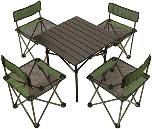 Mesa plegable simple Mesa HJCA - Juego de mesa y silla plegable for exteriores Taburete for silla