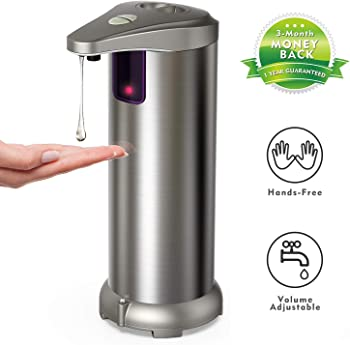 HopingFire Stainless Steel Touchless Auto Hand Soap Dispenser