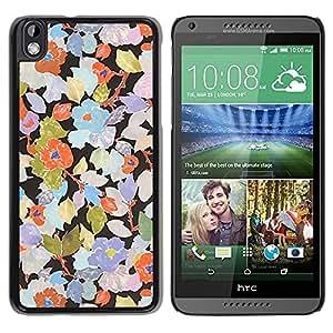 "Pulsar Snap-on Series Teléfono Carcasa Funda Case Caso para HTC DESIRE 816 , Rustic Art Wallpaper floral"""