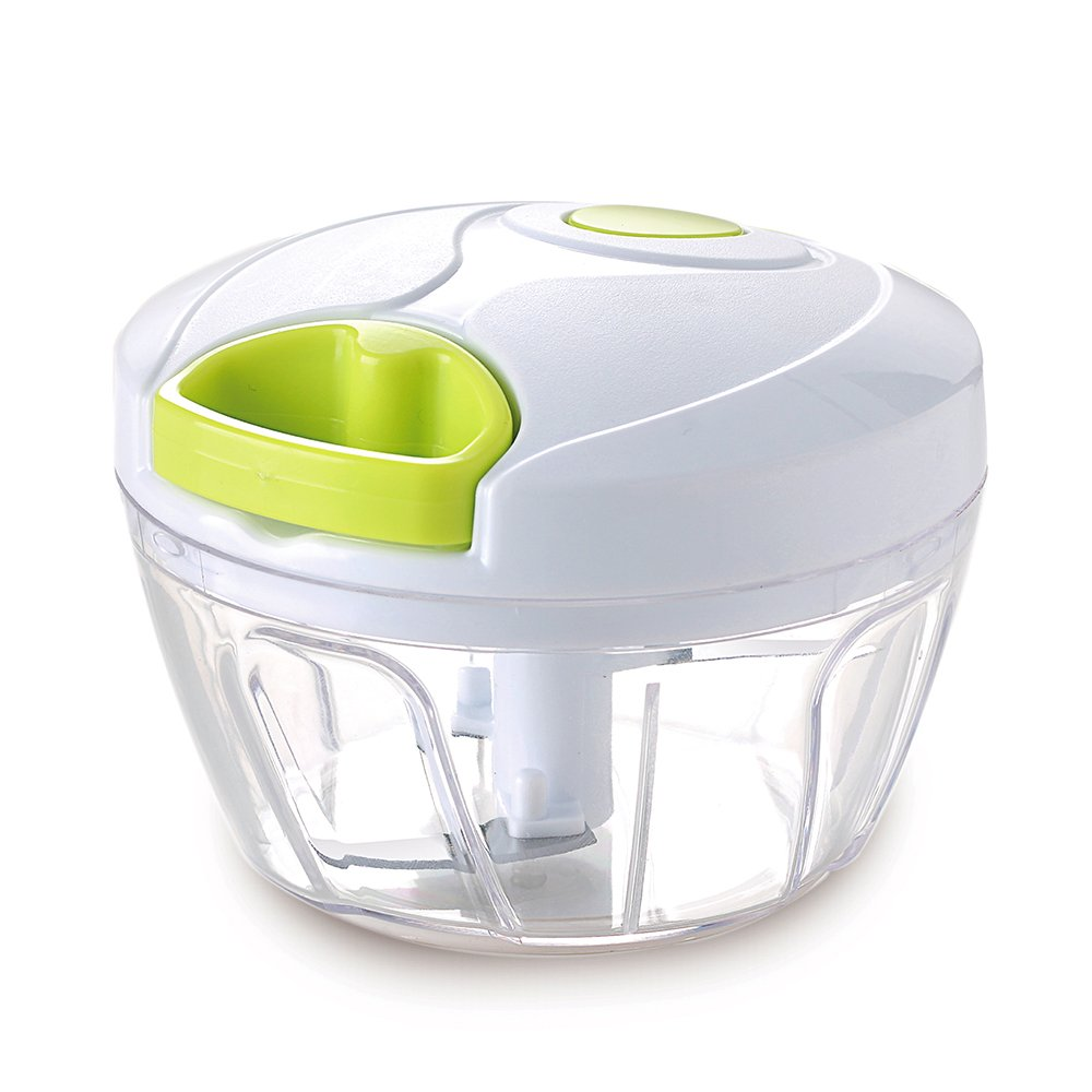 Vinipiak Manual Food Chopper For Vegetable Fruits Nuts Onions Chopper Hand Pull Mincer Blender Mixer Food processor (2 cup)