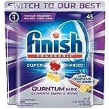 Finish Quantum Max Ultra-Degreaser w. Lemon, 45ct, Dishwasher Detergent Tablets