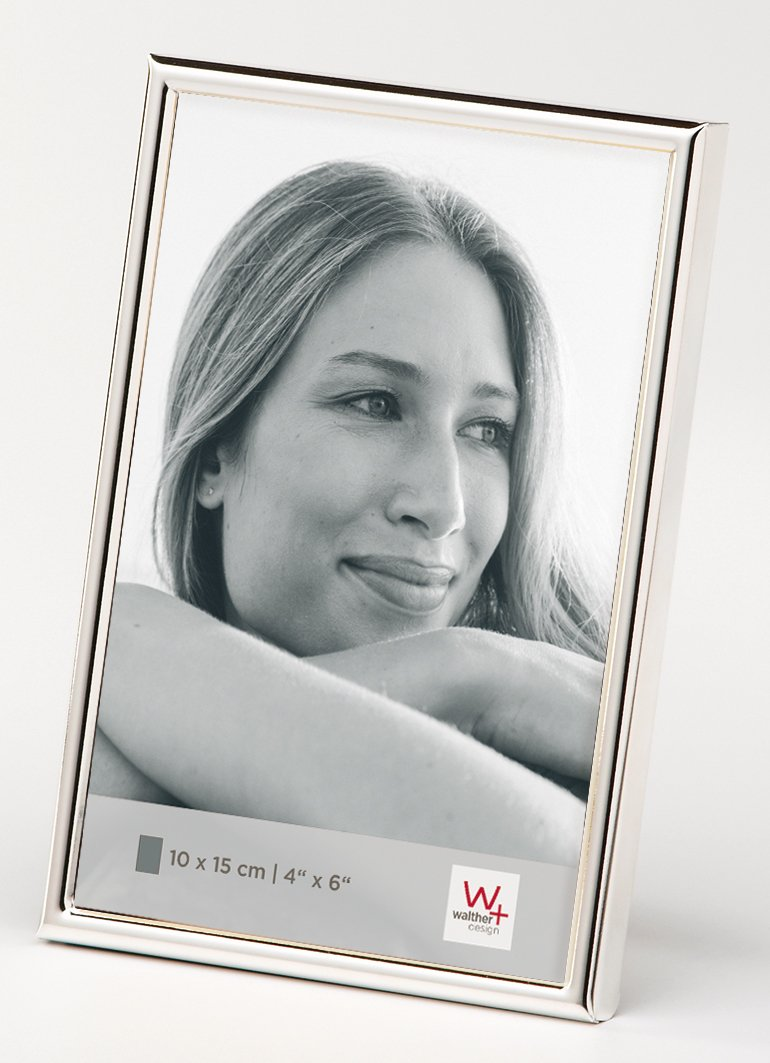 Walther design WD015S Chloe Portraitrahmen, 10 x 15 cm, silber ...