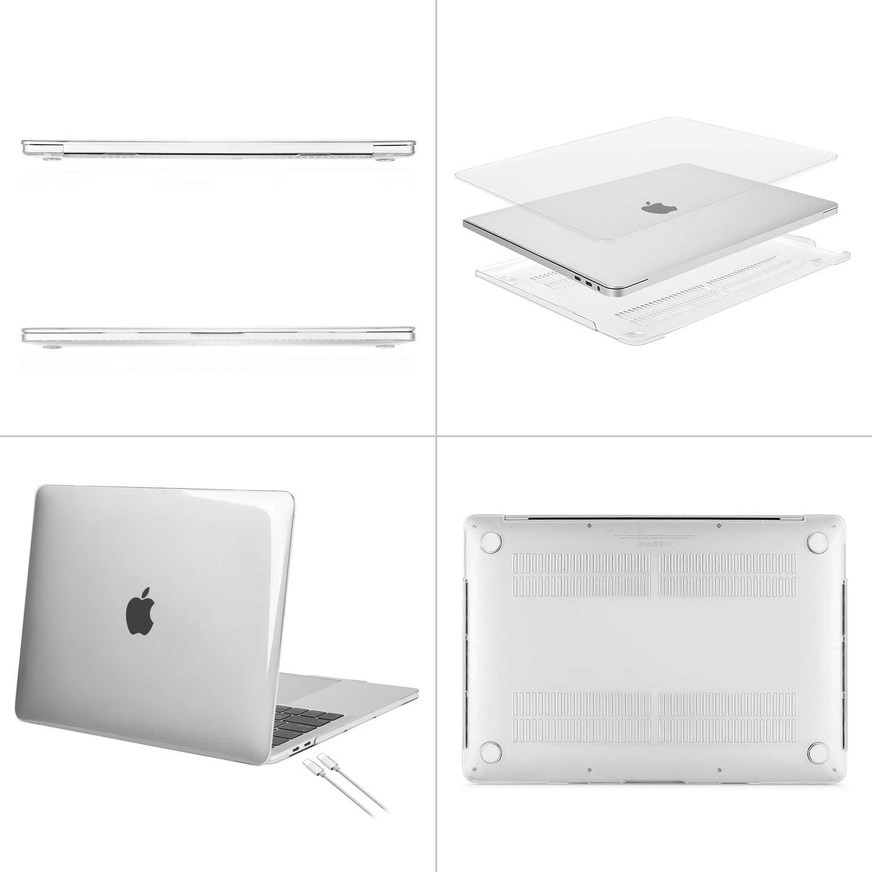 MOSISO Funda Dura Compatible con 2019 MacBook Pro 16 Pulgadas con Touch Bar A2141 Negro Delgado Pl/ástico Carcasa R/ígido /& Cubierta de Teclado /& Protector de Pantalla /& Bolsa de Accesorios