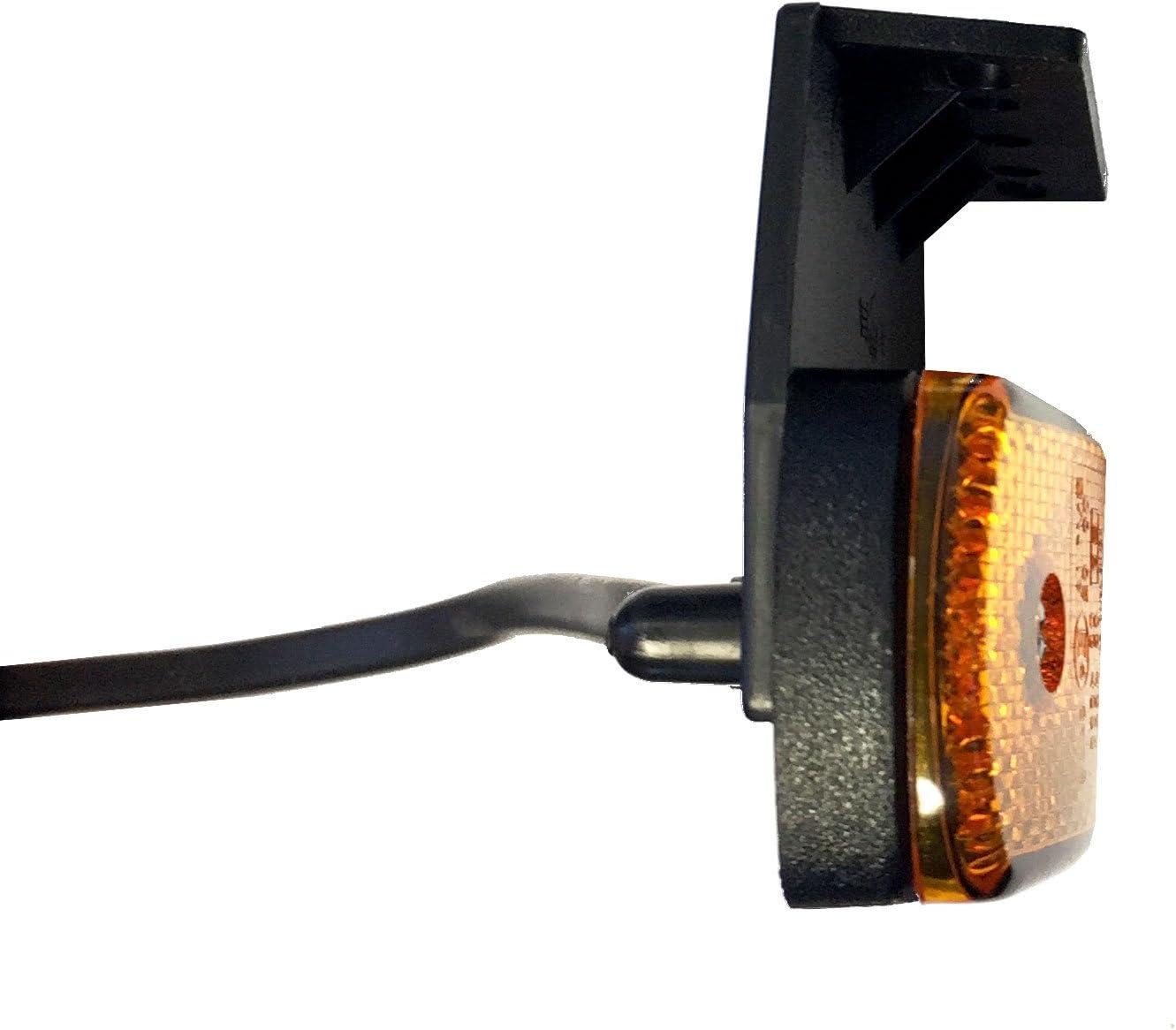 p2G-orange support plat 45/° Feux de position lat/éraux /à lED 12 v avec syst/ème de fixation de c/âble