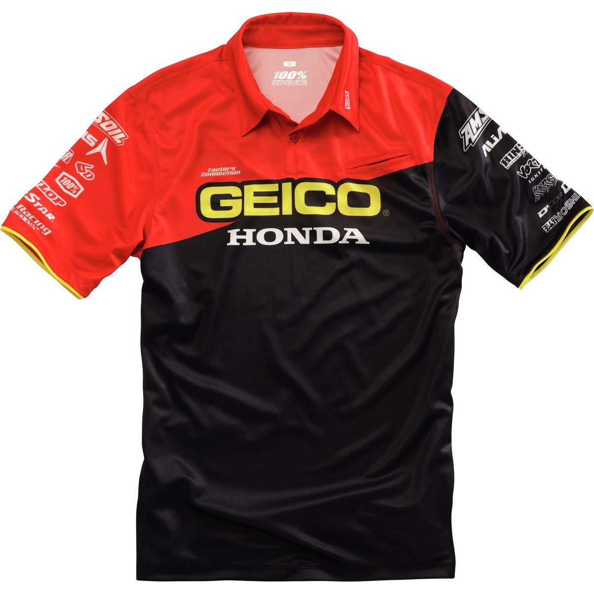Polo Con Bolsillo 100 Percent Honda Geico Team Pit Negro (Xl ...