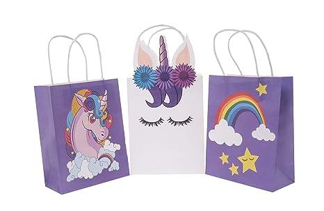 9 x Bolsas de papel Unicornio, Unicorn, 16 x 12 x 8 Bolsas ...