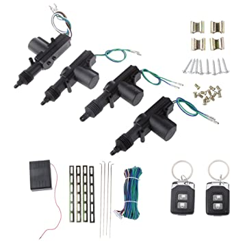Coches Control Remoto Sistema de Seguridad de Bloqueo Cierre Centralizado Kit de Entrada Sin Llave